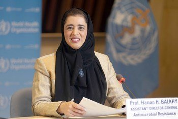د. حنان بلخي، مساعدة مدير عام منظمة الصحة العالمية لشؤون مقاومة المضادات الحيوية.