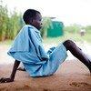 Menino no Sudão do Sul acaba de receber tratamento para dracunliasis