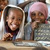 Young children in conflict-affected Bol, Chad study science at school.