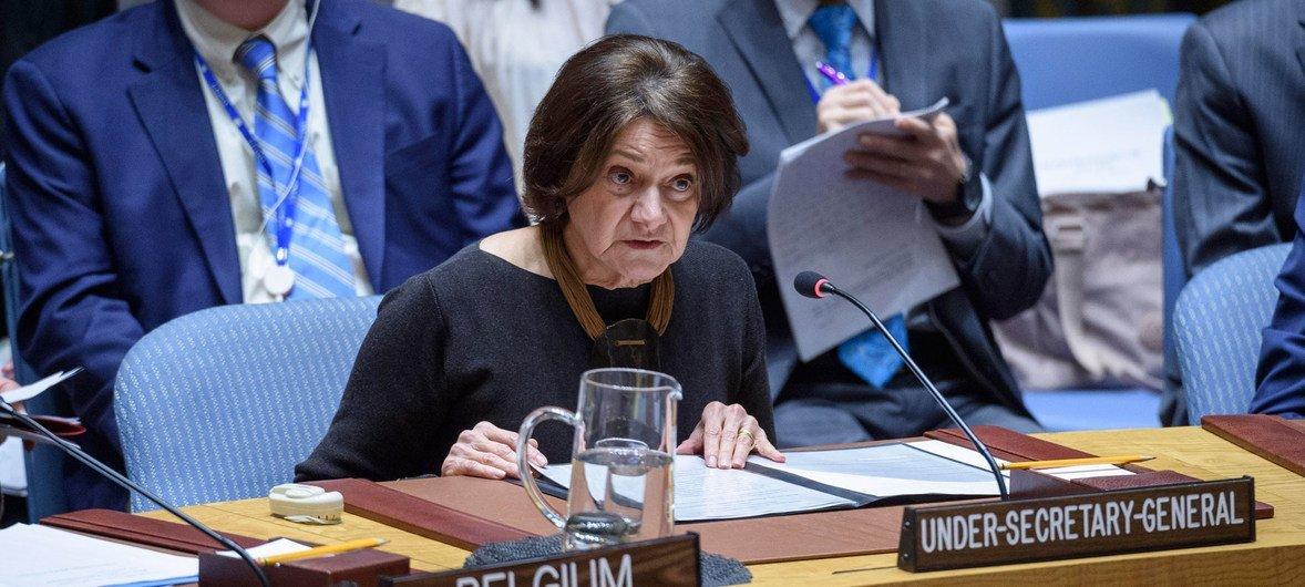 Заместитель Генсека по политическим вопросам проинформировала членов Совбеза о ситуации на северо-западе Сирии.