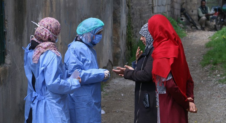 Outreach workers in Syria say they  are worried about the vulnerability of women and girls under curfew.