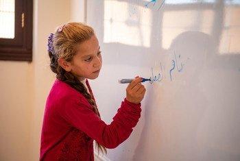 Le HCR a aidé à reconstruire les écoles en Syrie.