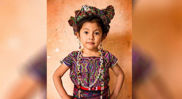 Menina Ixil,Santa Maria Nebaj, El Quiché, Guatemala