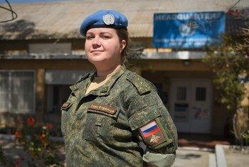 Евгения Носуля, капитан ВС России, служит в составе сил ООН на Кипре