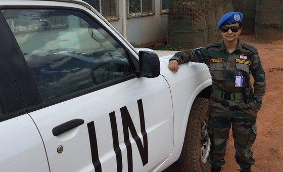 दक्षिण सूडान में यूएन मिशन (UNMISS) में भारतीय शान्तिरक्षक मेजर तेजस्मिता मंजूनाथ.