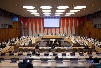 La salle du Conseil économique et social (ECOSOC) au siège des Nations Unies à New York