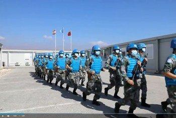"""中国第18批赴黎巴嫩维和医疗队参加联黎部队在东部战区举行的""""蓝色豪猪""""防卫应急演习"""