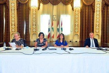 السيدة نجاة رشدي، المنسقة المقيمة للأمم المتحدة في لبنان تتحدث خلال الاجتماع الثاني للمجموعة الاستشارية لإطار الإصلاح والتعافي وإعادة الإعمار (3RF) للبنان.