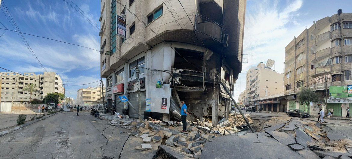 Israeli air strikes in May 2021 caused widespread destruction in Gaza.