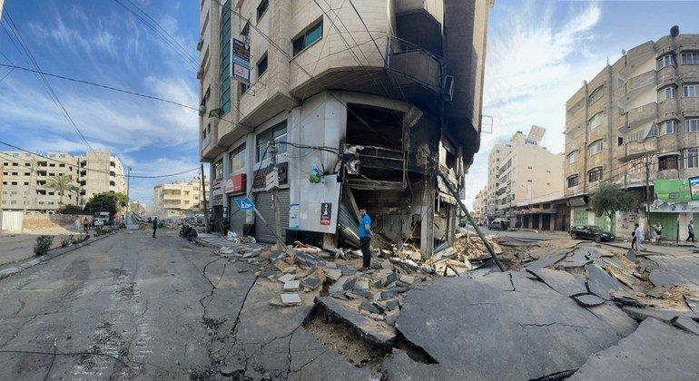 Удары, нанесенные Израилем по Газе в мае, привели к масштабным разрушениям.