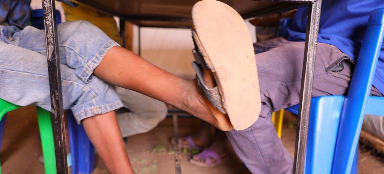 Des enfants déplacés par le conflit entament le processus de guérison dans un centre de santé mentale de l'OIM à Tigray, en Ethiopie.