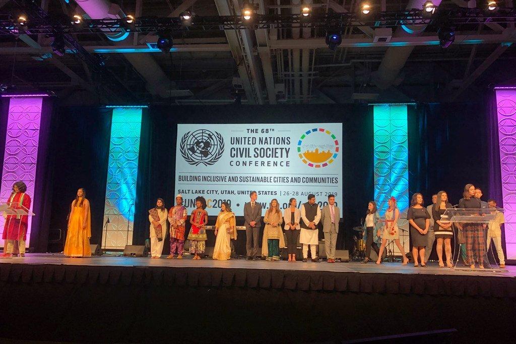 美国犹他州盐湖城第68届联合国民间社会会议的与会者。(2019年8月28日)