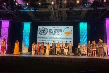 Participantes de la la 68ª Conferencia de las Naciones Unidas y la Sociedad Civil.