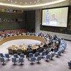 2019年8月28日,负责伊拉克问题的秘书长特别代表雅尼娜·亨尼斯-普拉斯哈特向联合国安理会通报该国最新形势进展。
