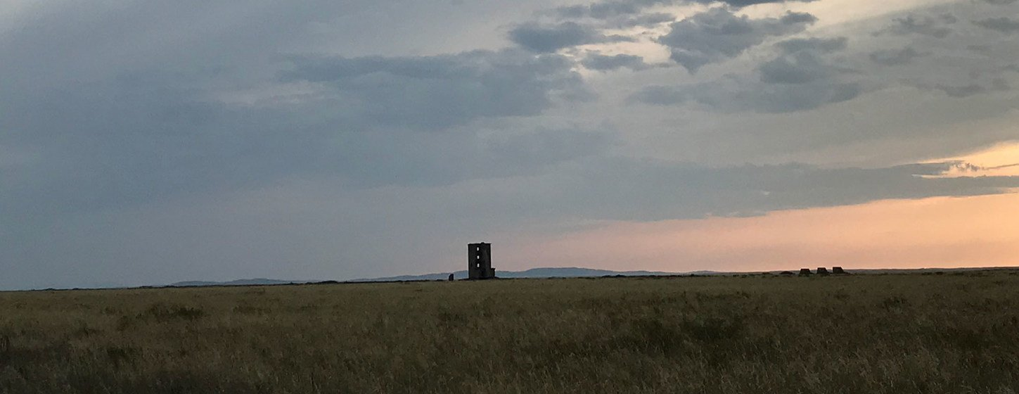 A view of 'ground zero' at the Semipalatinsk Test Site in Kurchatov, Kazakhstan. Remote Semipalatinsk was once the Soviet Union's primary test area for nuclear weapons.