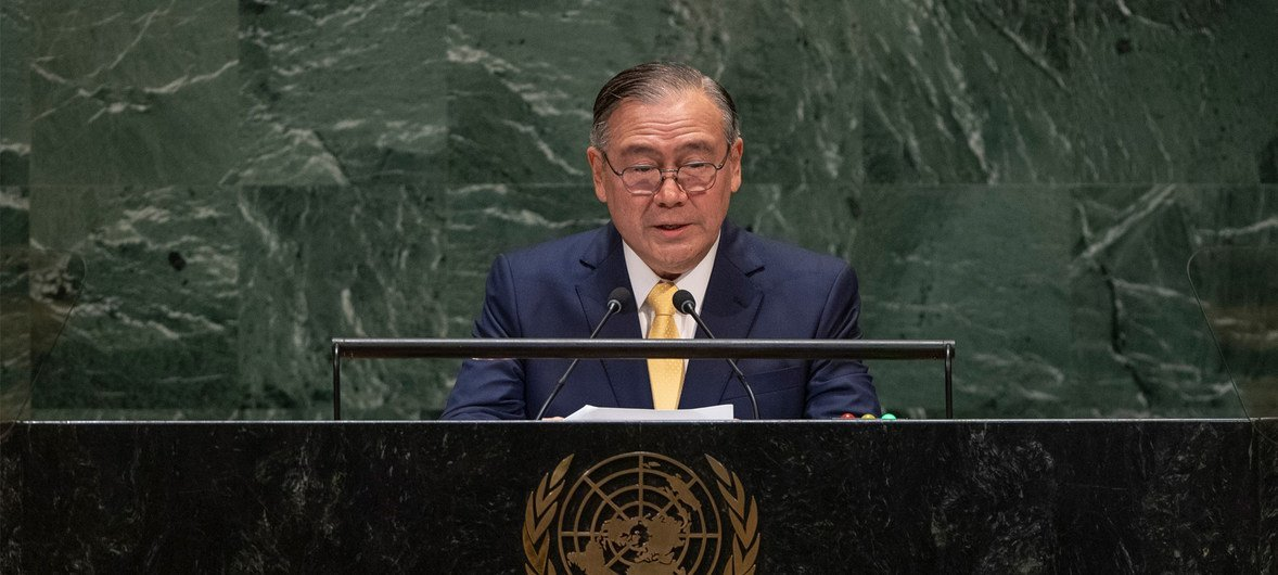 菲律宾外长洛钦出席联合国大会第74届会议一般性辩论。