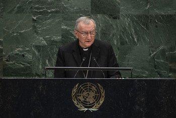 教廷国务秘书彼得罗·帕洛林枢机主教阁下在大会第七十四届会议一般性辩论中发言。