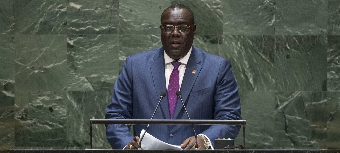 Bocchit Edmond, Minister for Foreign Affairs of Haiti, addresses the general debate of the General Assembly's 74th session.