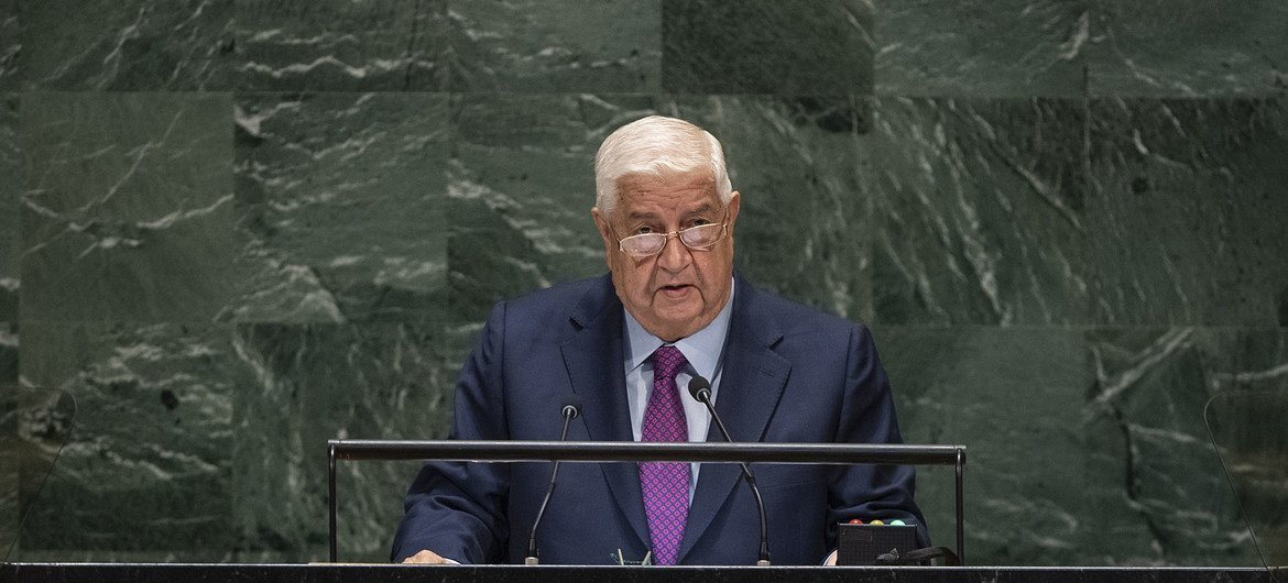 Walid Al-Moualem, Deputy Prime Minister and Minister for Foreign Affairs of the Syrian Arab Republic, addresses the general debate of the General Assembly's 74th session.