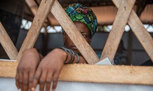 A woman survivor of gender-based violence in Kalemie, in the Democratic Republic of the Congo.