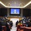 El coordinador especial de las Naciones Unidas para el proceso de paz en Oriente Medio,Nickolay Mladenov, dirigiéndose al Consejo de Seguridad a través de videoconferencia desde la ciudad de Jerusalén.