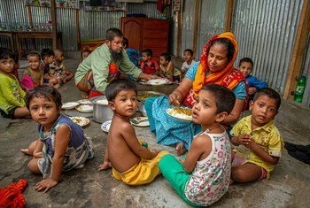 Members of the Korail Bon Bazar Community Centre in Bangladesh, have supported local families during the COVID-19 pandemic.