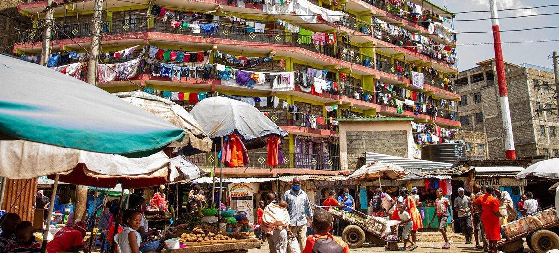 مدينة نيروبي، عاصمة كينيا.