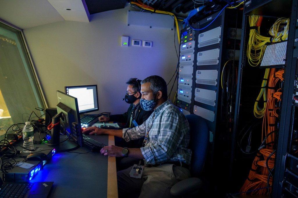 广播和会议支助科的工作人员在今年联大期间投入了忙碌的工作。