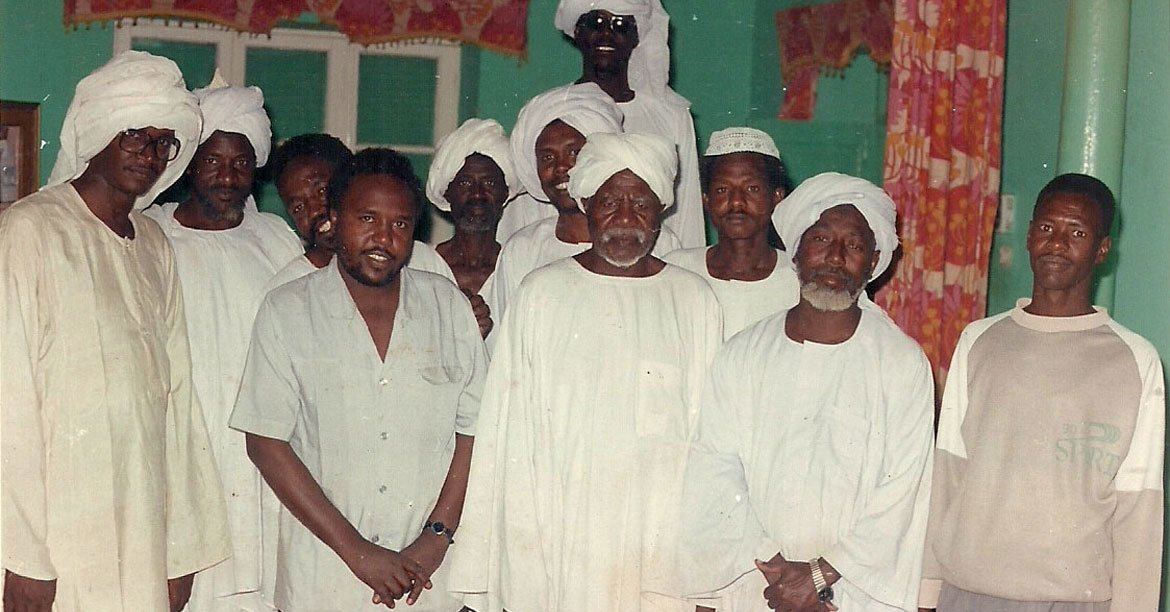 Abdelmonem Makki's father (3rd from left) with other tribal leaders of the village of Al-Malam in South Darfur, Sudan.