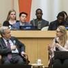 यूएन75 संवाद - युवा प्रतिनिधियों की बात सुनते हुए महासचिव एंतोनियो गुटेरेश (29 जनवरी 2020)