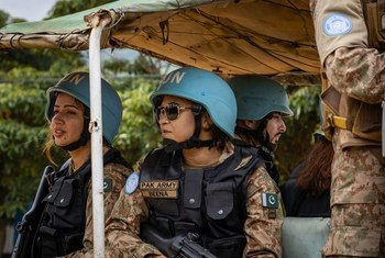 UN peacekeepers from Pakistan patrol in the Democratic Republic of the Congo.