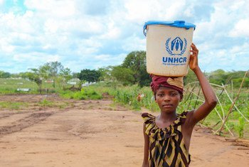 An eleven-year-old girl displaced by conflict in the north of Mozambique.