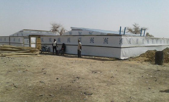 Construction of a quarantine shelter in Borno State