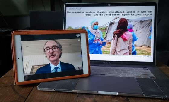 Geir O. Pedersen, Special Envoy of the Secretary-General for Syria briefs the Security Council during an open video conference in connection on the situation in Syria.