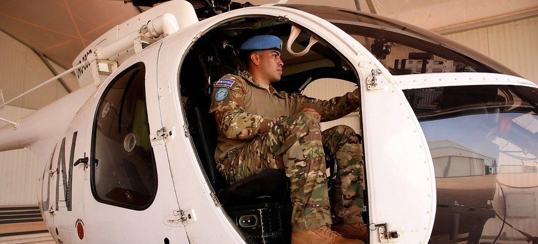 El teniente piloto aviador Luis Alfonso Amaya Medrano pertenece al contingente de El Salvador desplegado dentro de la Misión Multidimensional Integrada de Estabilización de las Naciones Unidas en Mali.