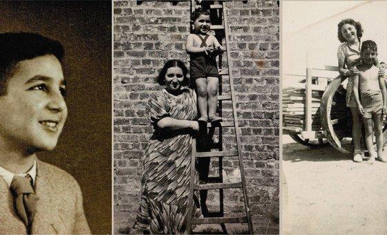 Детские, еще довоенные, фотографии Шимона Гроновского с мамой.