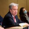 साइप्रस मुद्दे पर जिनीवा में बैठक के दौरान यूएन प्रमुख एंतोनियो गुटेरेश.
