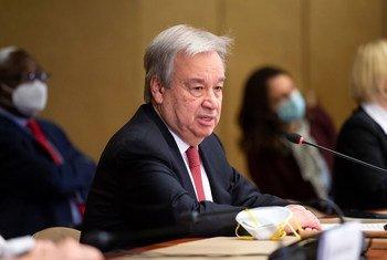 """António Guterres, classificou de """"grande honra"""" a decisão anunciada pelo Conselho de Segurança de recomendá-lo a um segundo mandato como secretário-geral da organização"""