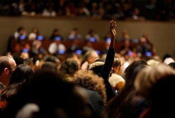 2019年3月12日,联合国妇女地位委员会会议现场。(资料图片)