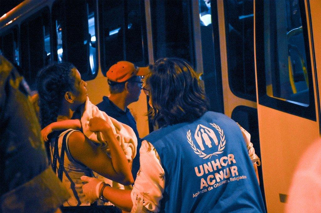 UNHCR na washirika wanaunga mkono wakimbizi wa Venezuela na wahamiaji wanaoishi katika mitaa ya Boa Vista, katika jimbo la Roraima kaskazini mwa Brazil wakati wa janga la COVID-19.