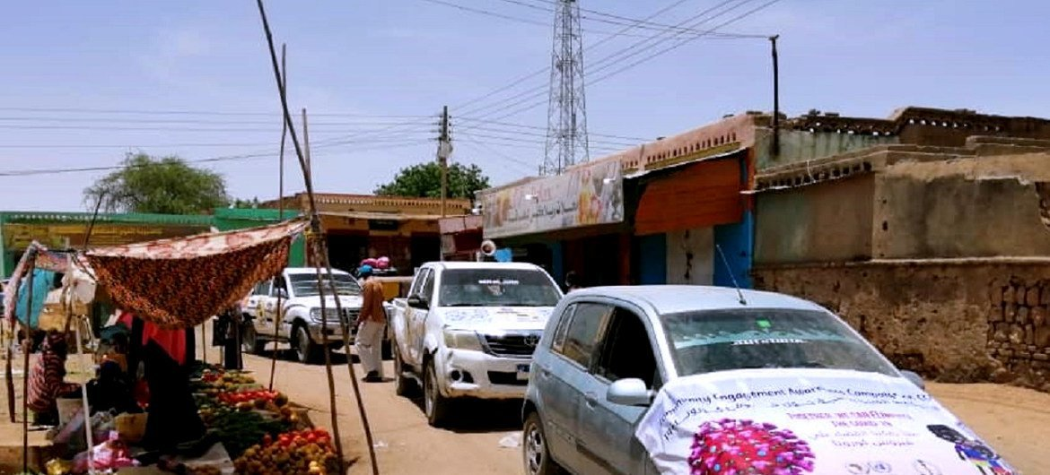 UNAMID, in cooperation with the Ministry of Health in West Darfur State, launched an awareness campaign against the COVID-19 coronavirus, in West Darfur