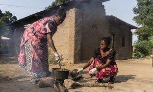 Des femmes à Kabalo dans la province du Tanganyika, en République démocratique du Congo.