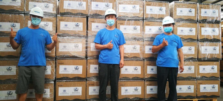 通过Bithelp平台筹集的25万个口罩到达了北京的仓库并移交给WAHO。太一集团、火币公益和聚币集团为本次募捐提供了支持和认捐。
