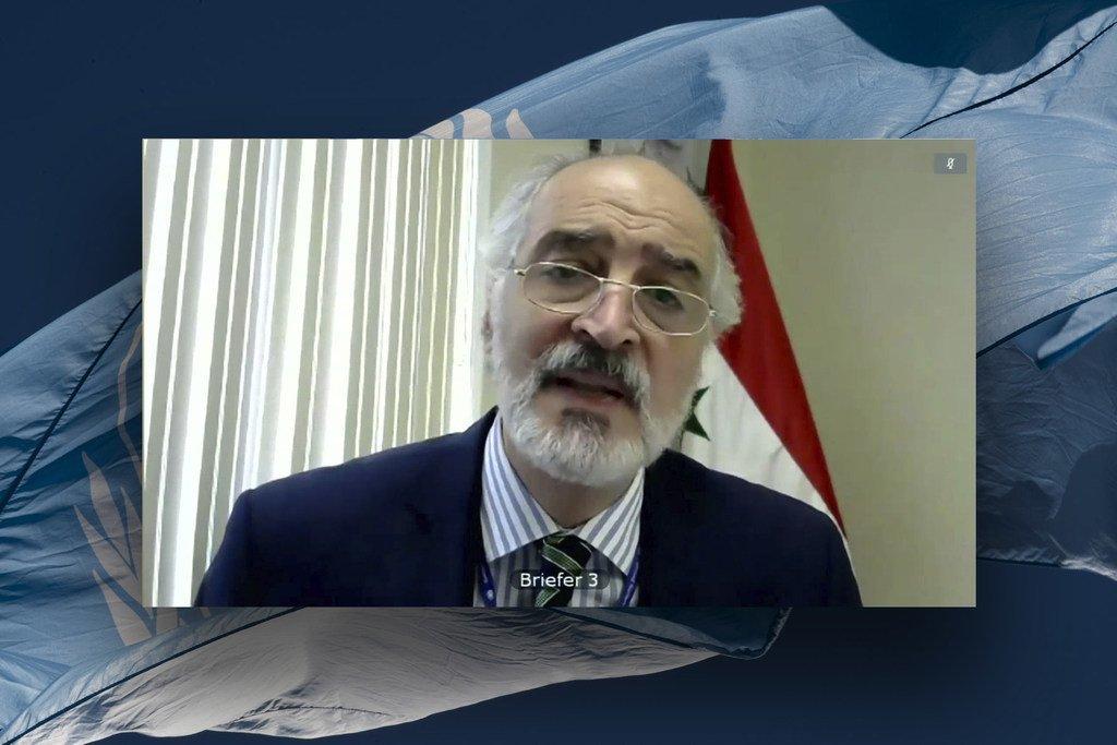 السفير السوري بشار الجعفري يتحدث إلى مجلس الأمن.