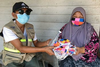 The UN Development Programme (UNDP) in Thailand and a local NGO arranged for the delivery of face masks to the ethnic community in Phuket province, located in the south of the country.
