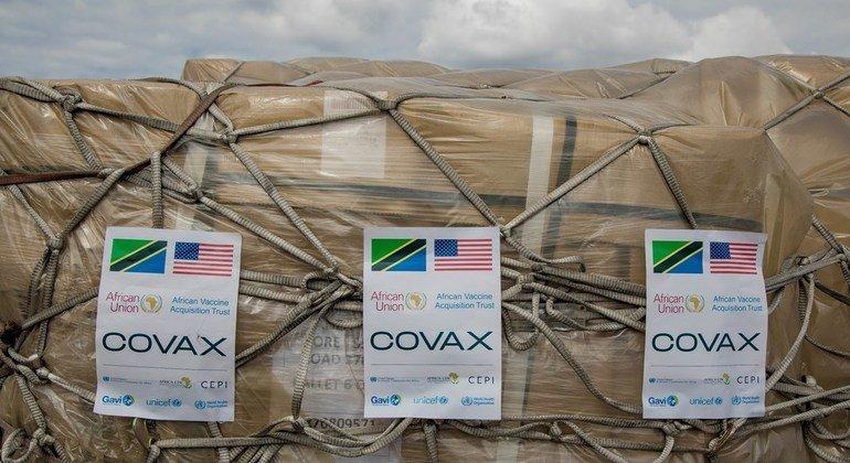 Chanzo zilizotolewa kwa Tanzania kwa msaada wa Marekani kupitia mpango wa Umoja wa Mataifa wa kusaka chanjo za Corona au COVID-19, COVAX, na ziliwasili tarehe 24 Julai 2021.