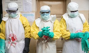 In Butembo, in the eastern Democratic Republic of the Congo, Red Cross workers ensure safe burials to help stop the spread of the deadly Ebola disease. (August 2019)