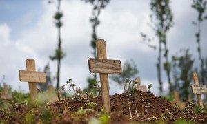 Des victimes de la maladie d'Ebola ont été enterrées au cimetière de Kitatumba, à Butembo, dans l'est de la République démocratique du Congo.