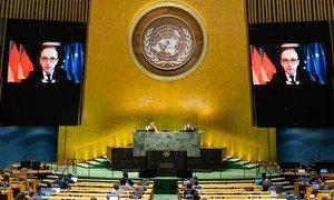 德国外长马斯在联合国大会第七十五届会议的一般性辩论中通过视频发言。