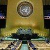 朝鲜常驻联合国代表金星在联合国大会第75届会议一般性辩论中发表致辞。